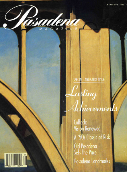 "The Cover of Pasadena Magazine. Mark Beck Painting: ""Contemplating Suicide Bridge"" In private collection."