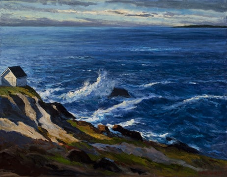 "Sliver of Light , 28 x40 "" oil on linen. SOLD"