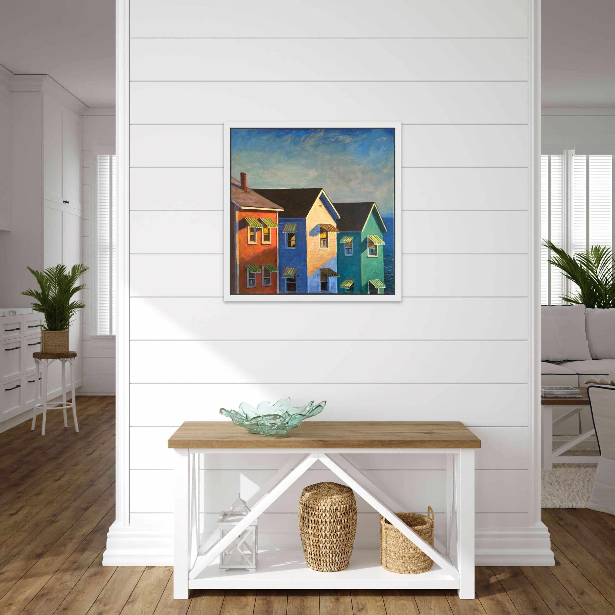 Mark Beck Fine Art Print in art collector's home.